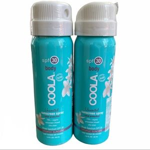 Set of 2 Coola SPF 30 Travel Organic Sunscreen